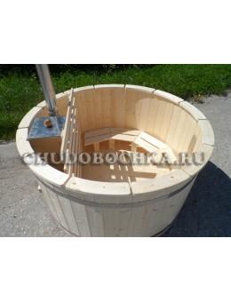 Купель 160 см. с внутренней печью